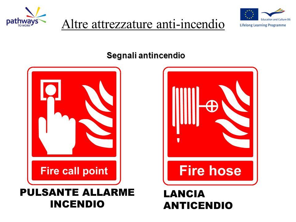 Altre attrezzature anti-incendio Segnali antincendio LANCIA ANTICENDIO PULSANTE ALLARME INCENDIO