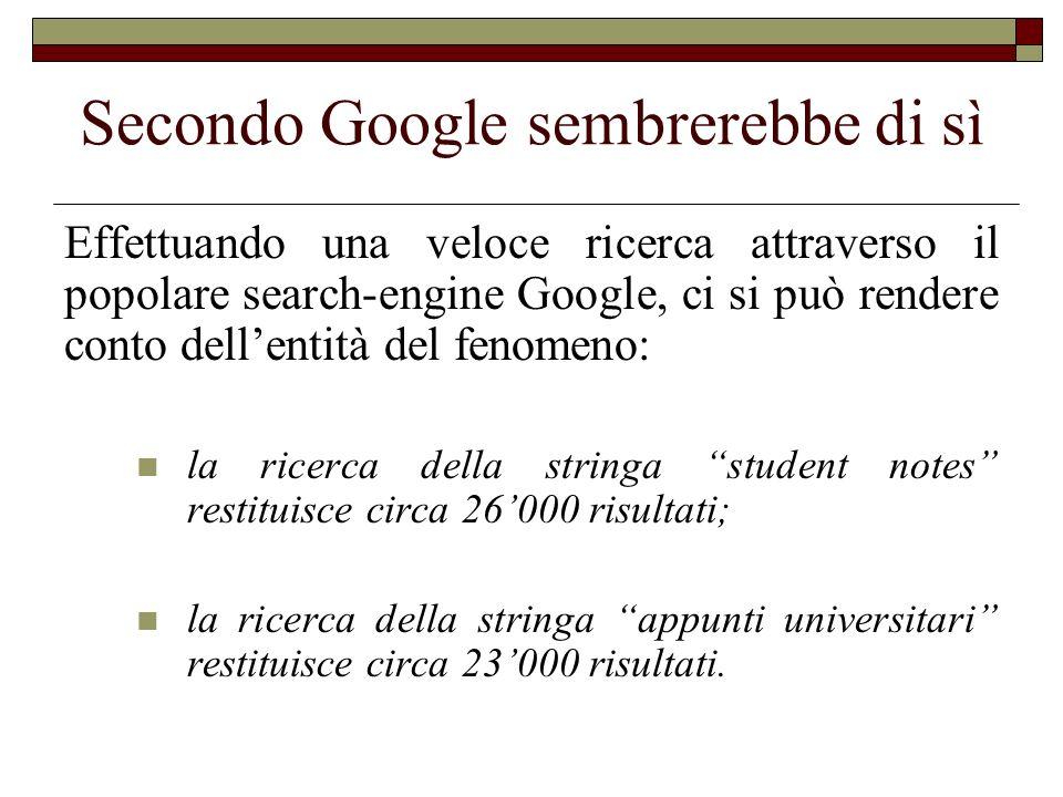 Secondo Google sembrerebbe di sì Effettuando una veloce ricerca attraverso il popolare search-engine Google, ci si può rendere conto dellentità del fe