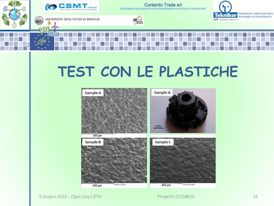 5 Giugno 2012 - Open Day LIFE+12Progetto COSMOS TEST CON LE PLASTICHE