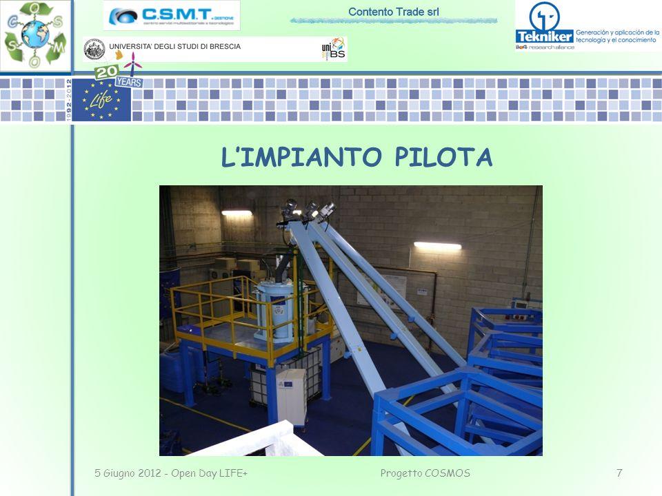 5 Giugno 2012 - Open Day LIFE+7Progetto COSMOS LIMPIANTO PILOTA