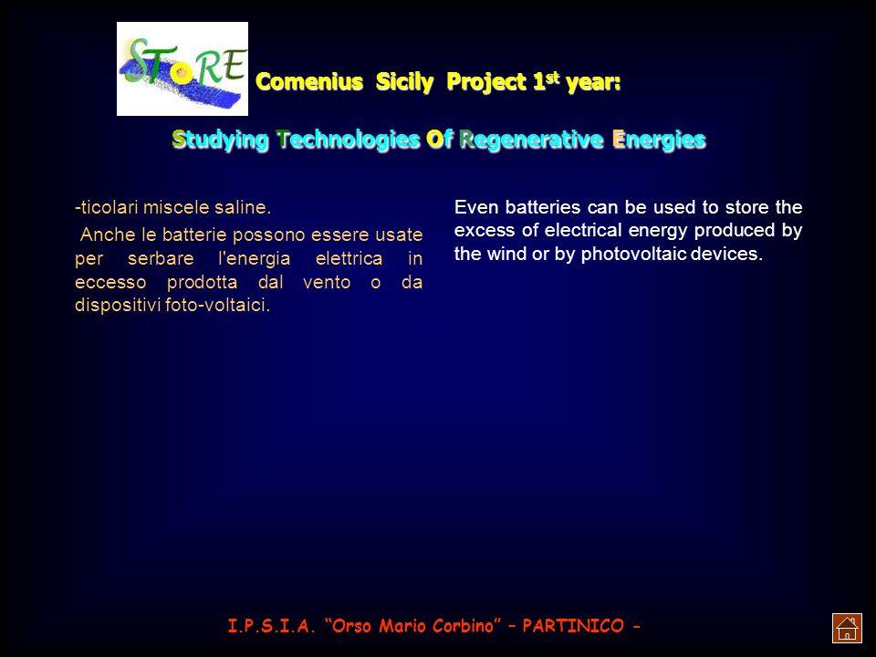 Comenius Sicily Project 1 st year: Studying Technologies Of Regenerative Energies solari giganti in orbita geostazionaria. Qui l'energia generata dall