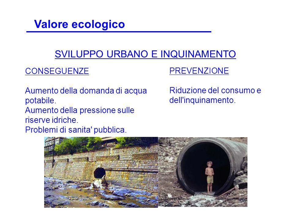 CONSEGUENZE Aumento della domanda di acqua potabile. Aumento della pressione sulle riserve idriche. Problemi di sanita' pubblica. PREVENZIONE Riduzion