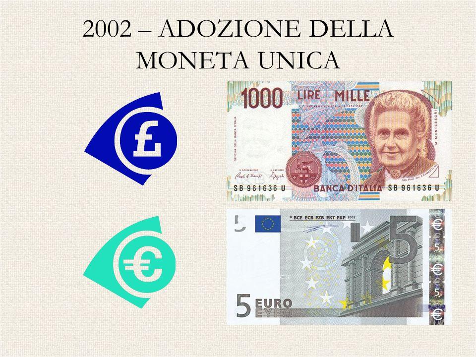 2002 – ADOZIONE DELLA MONETA UNICA