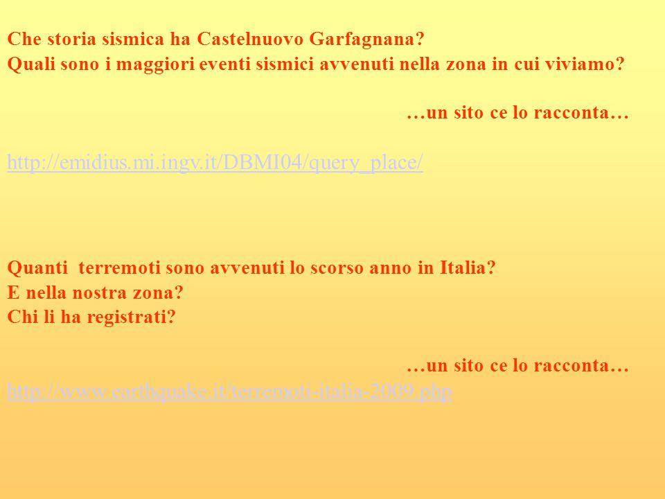 Che storia sismica ha Castelnuovo Garfagnana? Quali sono i maggiori eventi sismici avvenuti nella zona in cui viviamo? …un sito ce lo racconta… http:/