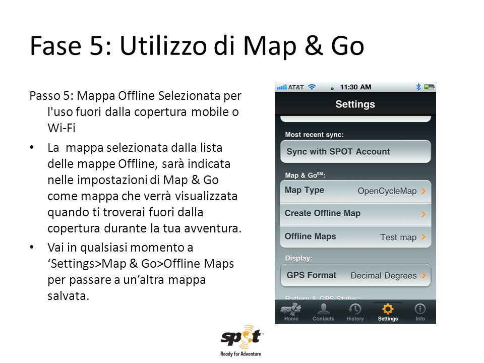 Fase 5: Utilizzo di Map & Go Passo 5: Mappa Offline Selezionata per l'uso fuori dalla copertura mobile o Wi-Fi La mappa selezionata dalla lista delle