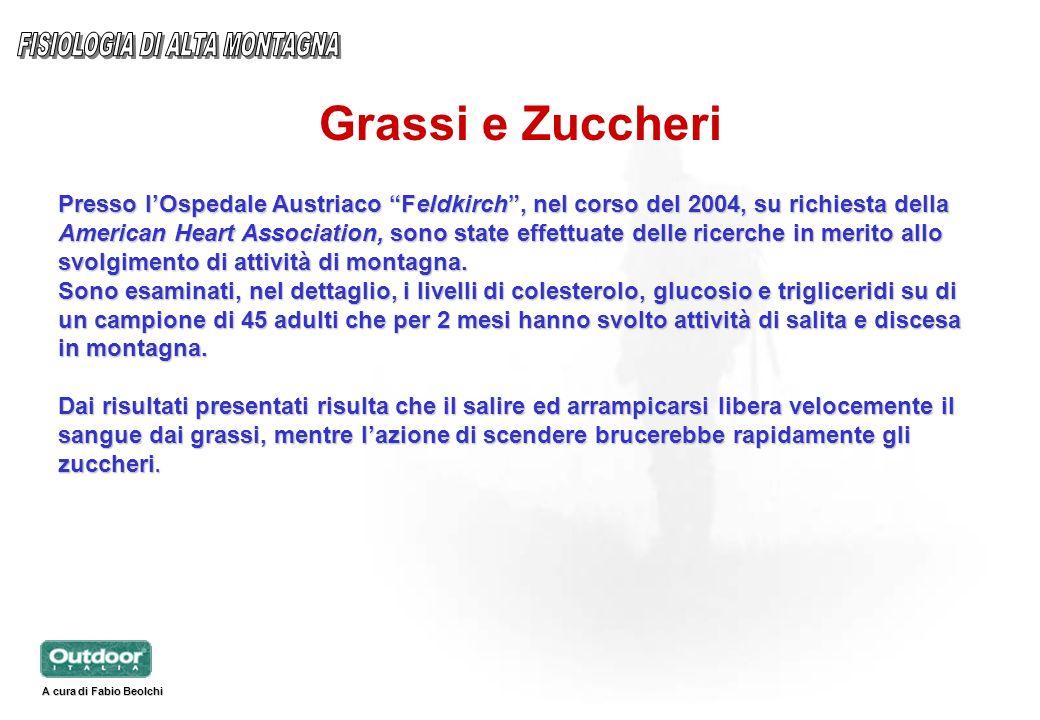 Grassi e Zuccheri Presso lOspedale Austriaco Feldkirch, nel corso del 2004, su richiesta della American Heart Association, sono state effettuate delle