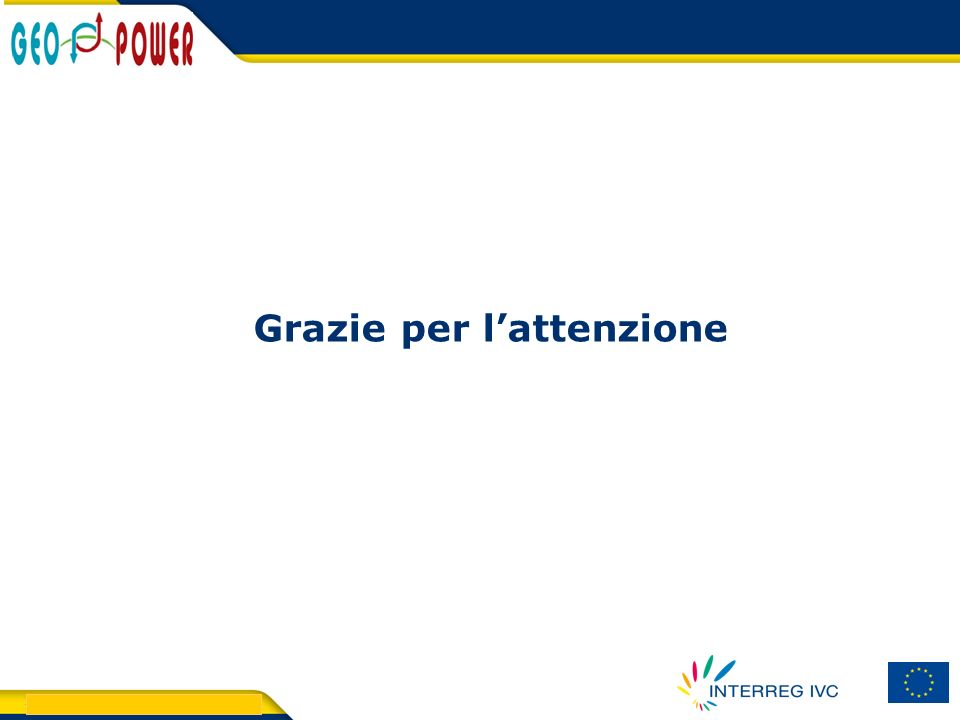 > GEO.POWER Inception meeting 32 Grazie per lattenzione