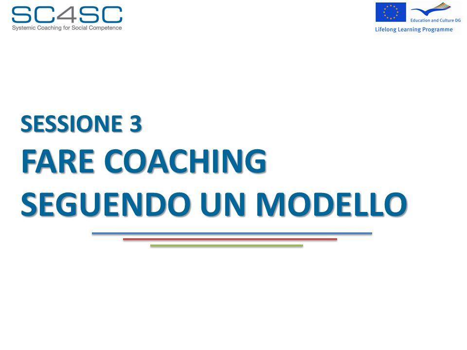 SESSIONE 3 FARE COACHING SEGUENDO UN MODELLO