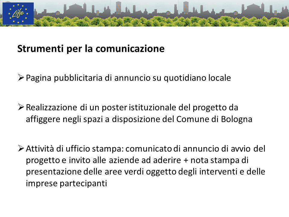 Pagina pubblicitaria di annuncio su quotidiano locale Realizzazione di un poster istituzionale del progetto da affiggere negli spazi a disposizione de