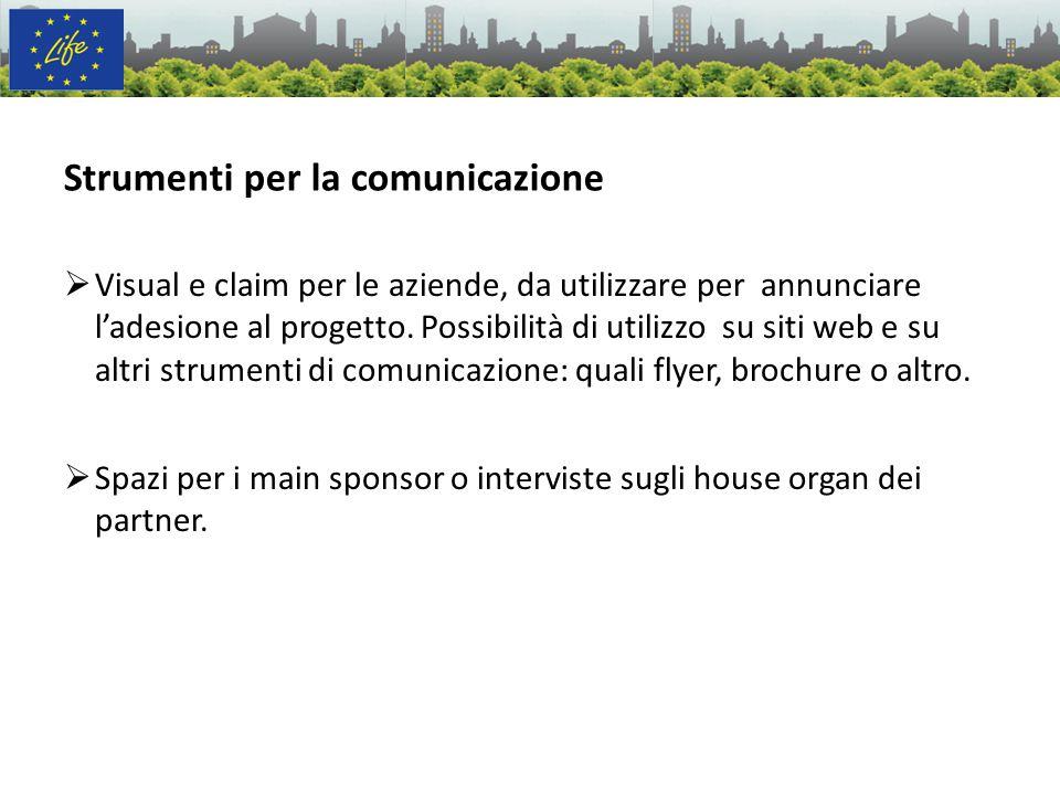 Visual e claim per le aziende, da utilizzare per annunciare ladesione al progetto. Possibilità di utilizzo su siti web e su altri strumenti di comunic