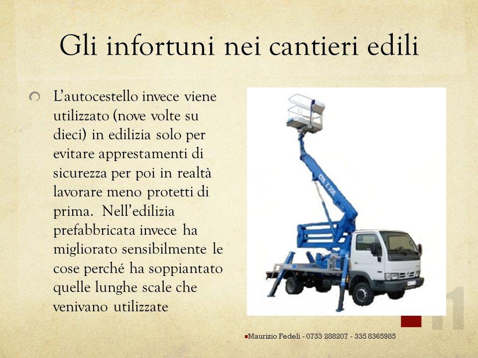 Gli infortuni nei cantieri edili Lautocestello invece viene utilizzato (nove volte su dieci) in edilizia solo per evitare apprestamenti di sicurezza p