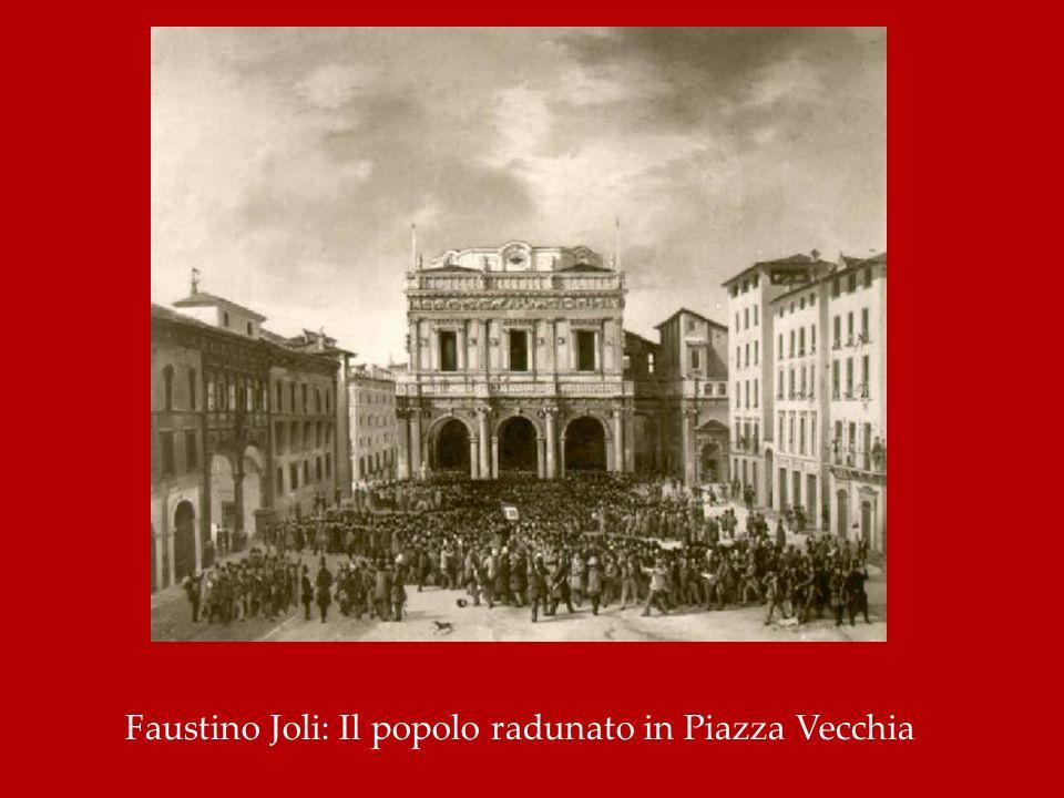 Faustino Joli: Il popolo radunato in Piazza Vecchia
