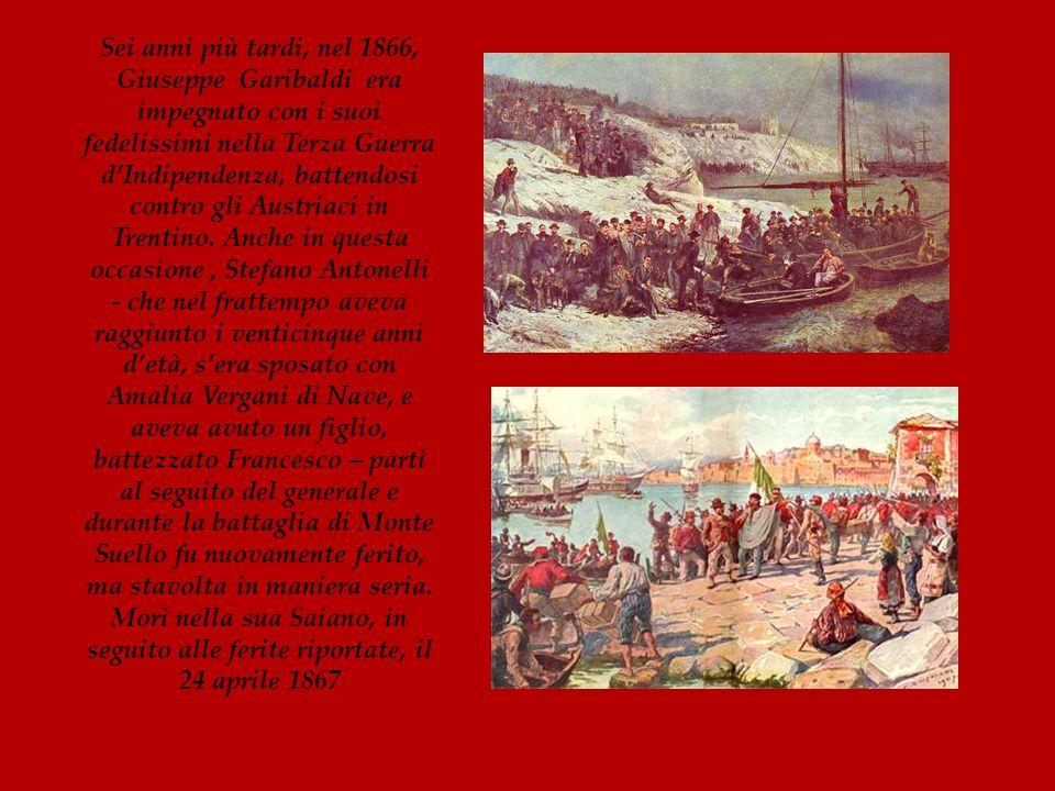 Sei anni più tardi, nel 1866, Giuseppe Garibaldi era impegnato con i suoi fedelissimi nella Terza Guerra dIndipendenza, battendosi contro gli Austriac