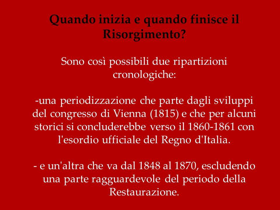 Limpresa delle mille camicie rosse(così chiamate per la loro caratteristica divisa), guidate da Garibaldi, è forse lepisodio più celebre del Risorgimento italiano.