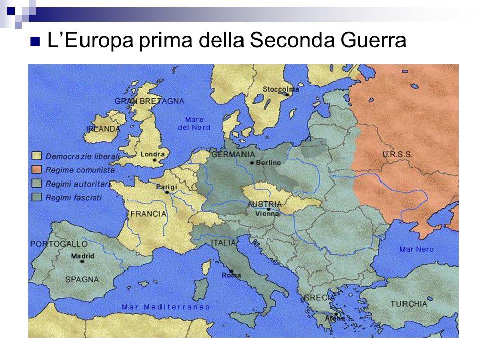 LEuropa prima della Seconda Guerra