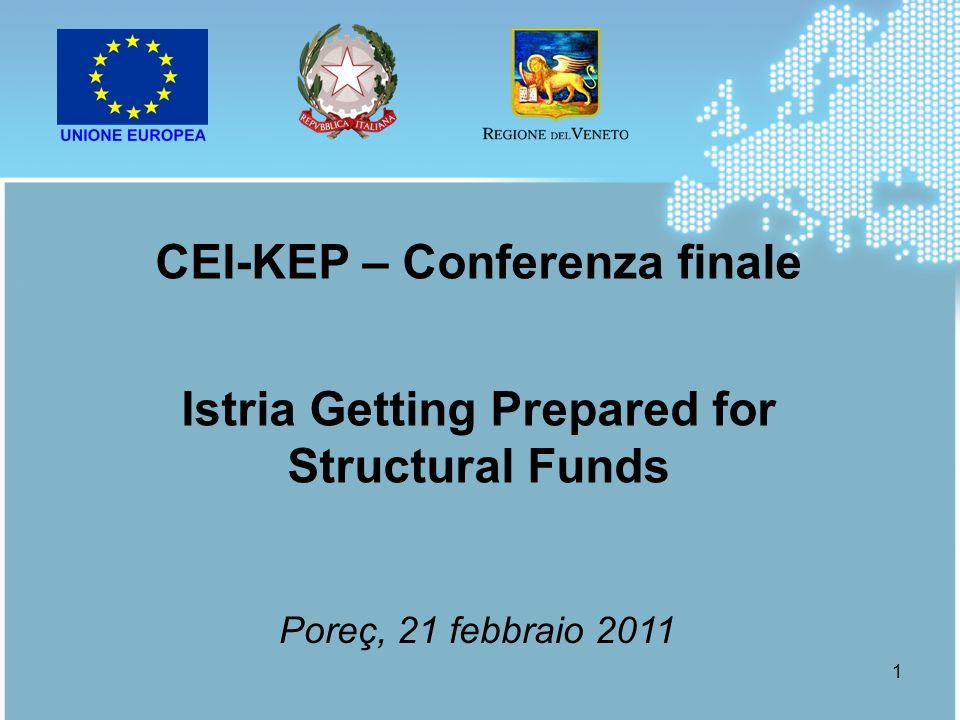 1 CEI-KEP – Conferenza finale Istria Getting Prepared for Structural Funds Poreç, 21 febbraio 2011