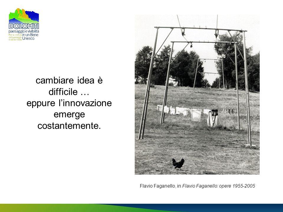 cambiare idea è difficile … eppure linnovazione emerge costantemente. Flavio Faganello, in Flavio Faganello: opere 1955-2005