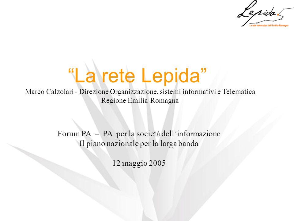 La rete Lepida Marco Calzolari - Direzione Organizzazione, sistemi informativi e Telematica Regione Emilia-Romagna Forum PA – PA per la società dellin