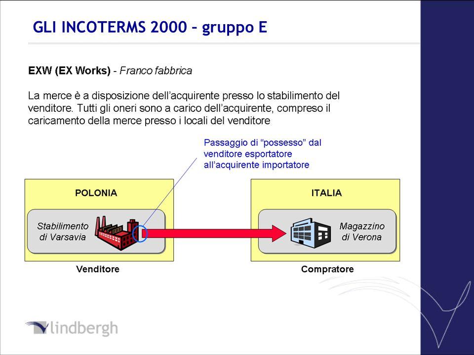 GLI INCOTERMS 2000 – gruppo E