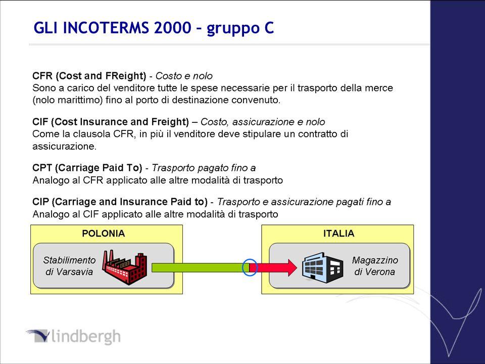 GLI INCOTERMS 2000 – gruppo C