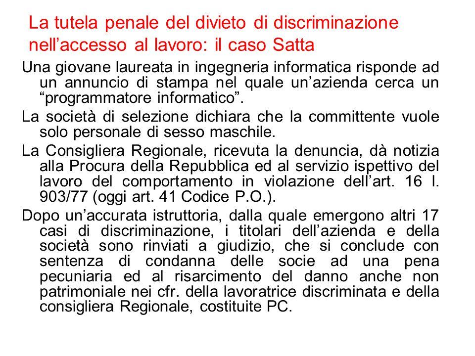 Motivi di discriminazione Di solito sono previsti tutti (orientamento sessuale controverso a Malta ed in altri paesi, non menzionato ma preso come se lo fosse) Generalmente non vengono definiti nella legge (rif.