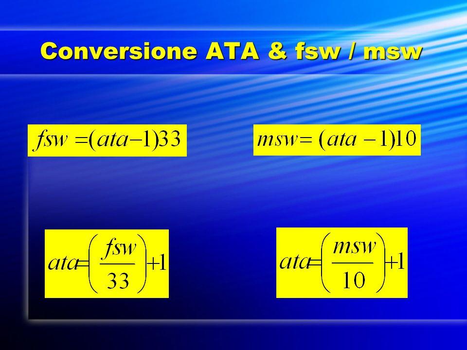 Conversione ATA & fsw / msw