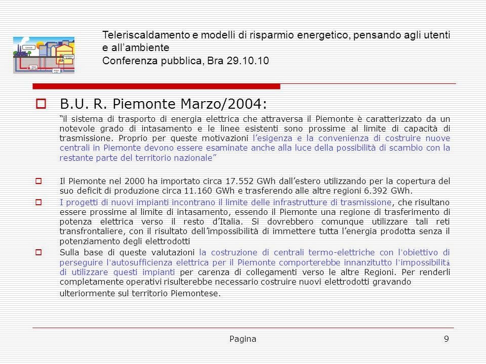 Pagina9 B.U. R. Piemonte Marzo/2004: il sistema di trasporto di energia elettrica che attraversa il Piemonte è caratterizzato da un notevole grado di