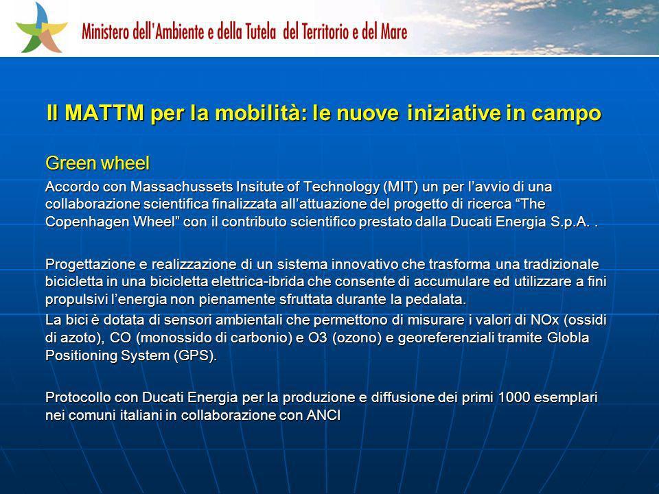 Green wheel Accordo con Massachussets Insitute of Technology (MIT) un per lavvio di una collaborazione scientifica finalizzata allattuazione del proge