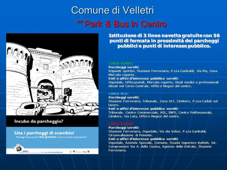 Comune di Velletri Park & Bus in Centro