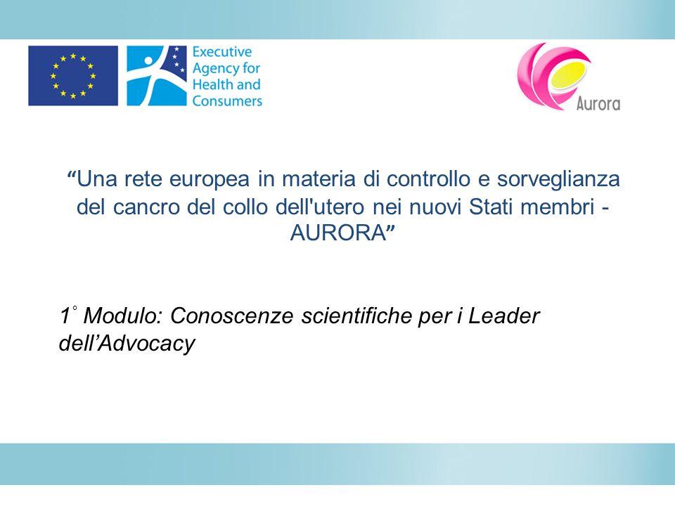 www.aurora-project.eu Questa pubblicazione nasce dal progetto «Aurora», che ha ricevuto finanziamenti dall Unione europea nel quadro del programma di sanità.