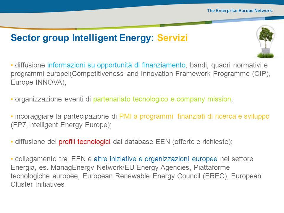 The Enterprise Europe Network: diffusione informazioni su opportunità di finanziamento, bandi, quadri normativi e programmi europei(Competitiveness an