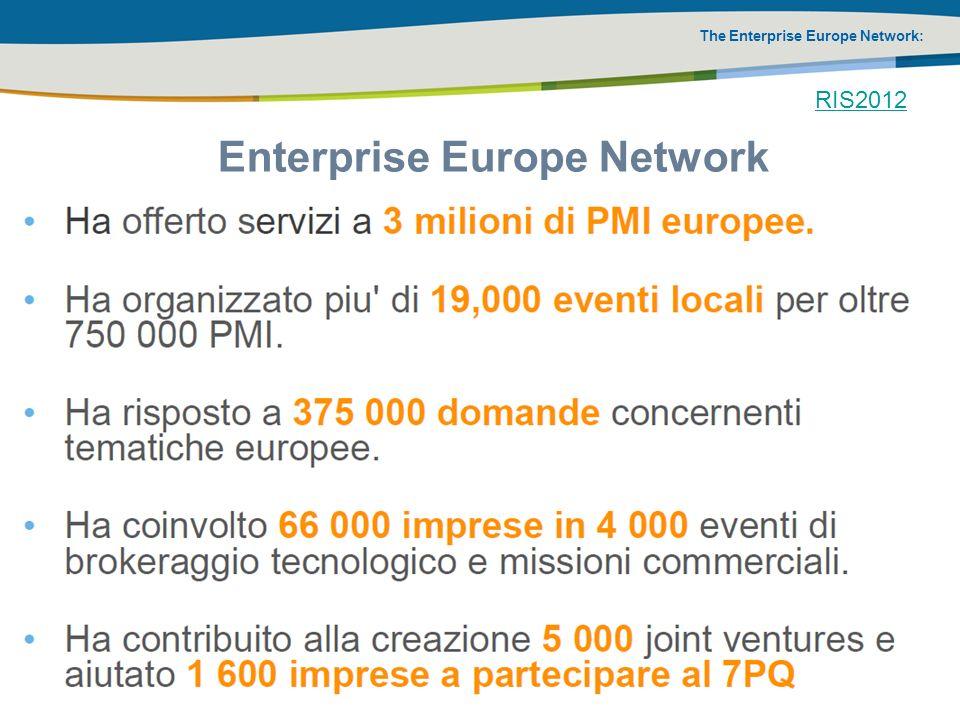 The Enterprise Europe Network: Enterprise Europe Network RIS2012