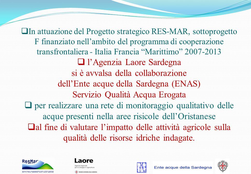 In attuazione del Progetto strategico RES-MAR, sottoprogetto F finanziato nellambito del programma di cooperazione transfrontaliera - Italia Francia M