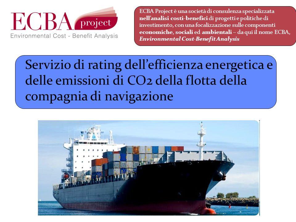 A chi è rivolto: Noleggiatori (la performance ambientale dei fornitori, il carbon footprint dei prodotti) Brokers (il valore della nave), Consulenti/periti di parte (due diligence) Shipping finance (la riduzione del rischio), Società di armamento (la potenzialità economica delle unità gestite) Proprietà (il valore del patrimonio) Concorrenza (il nolo/tariffa che si può praticare) Servizio di rating dellefficienza energetica e delle emissioni di CO2 della flotta della compagnia di navigazione