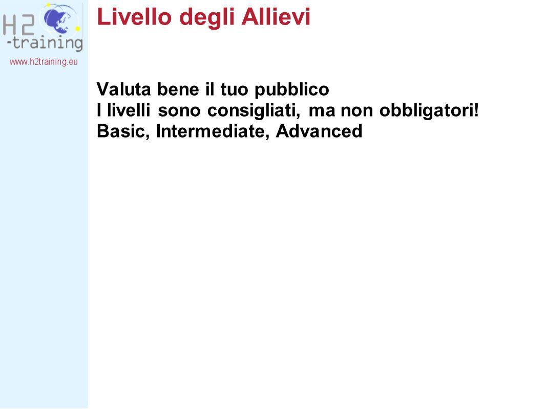 Livelli - Basic Un livello generico che non richiede conoscenze specifiche di fisica, chimica o matematica.