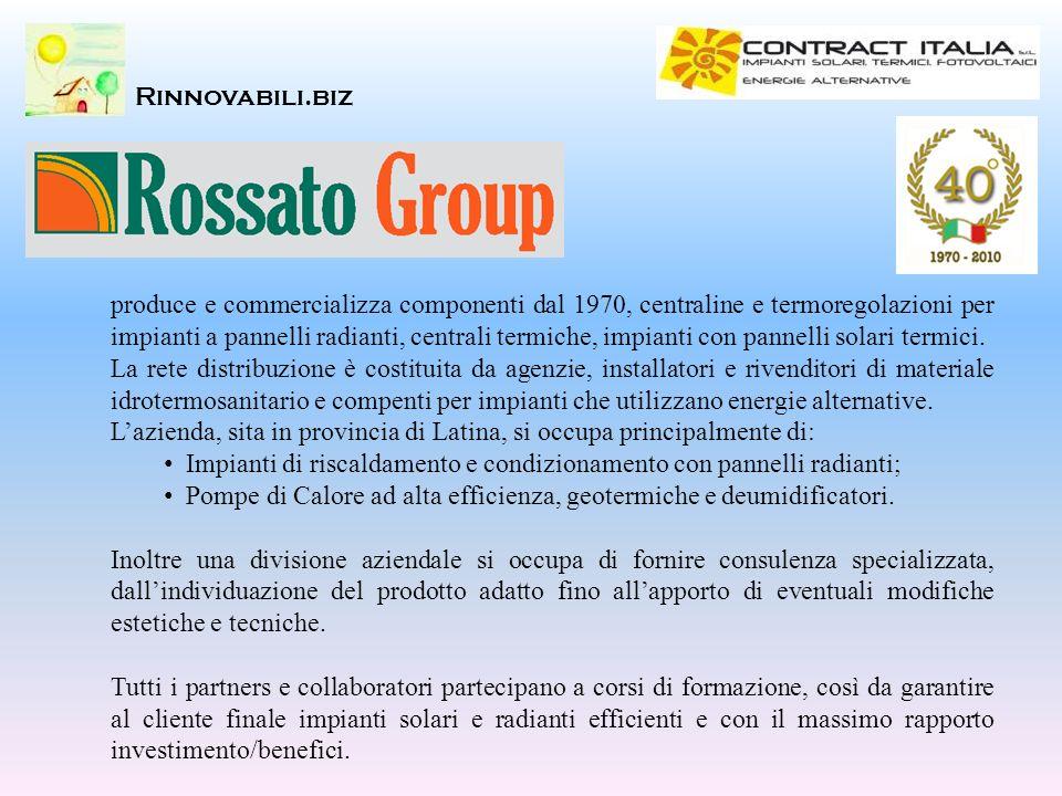 Rinnovabili.biz produce e commercializza componenti dal 1970, centraline e termoregolazioni per impianti a pannelli radianti, centrali termiche, impia