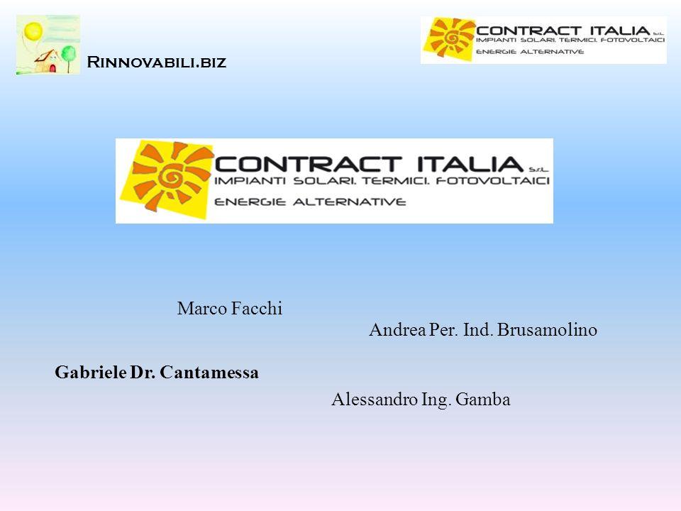 Marco Facchi Alessandro Ing. Gamba Gabriele Dr. Cantamessa Andrea Per. Ind. Brusamolino