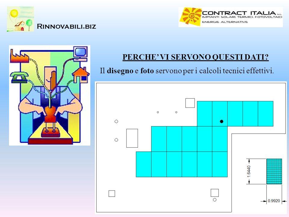 Rinnovabili.biz PERCHE VI SERVONO QUESTI DATI? Il disegno e foto servono per i calcoli tecnici effettivi.