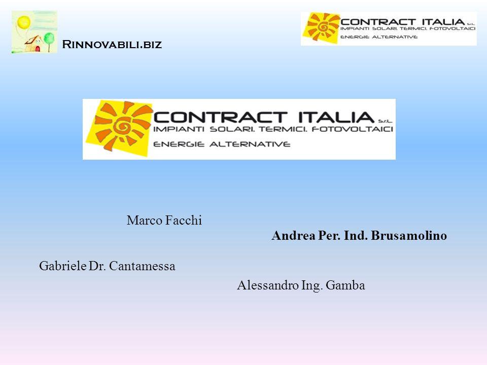 Rinnovabili.biz Marco Facchi Alessandro Ing. Gamba Gabriele Dr. Cantamessa Andrea Per. Ind. Brusamolino