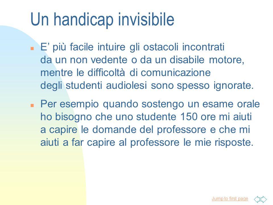 Jump to first page n In Italia alcune Università hanno introdotto il Servizio di stenotipia per permettere agli studenti audiolesi di seguire le lezioni sottotitolate da una stenotipista..