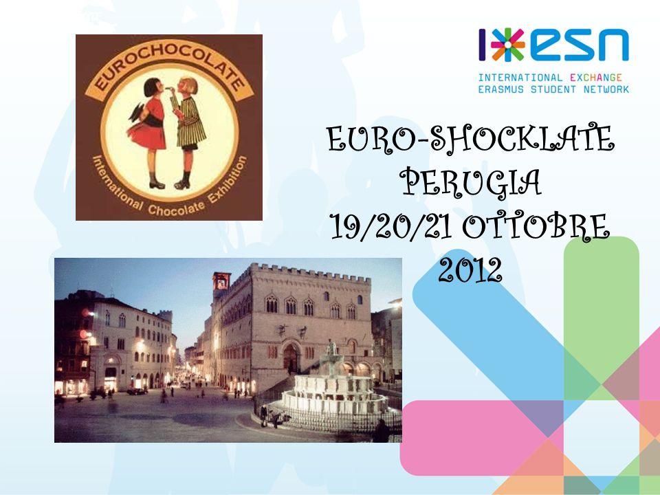 Programma evento: Tra le splendide cornici umbre trascorreremo 3 giornate di cultura, cioccolato e divertimento e tutte le sezioni dItalia potranno partecipare visitando la città di Perugia ornata di stand per levento europeo di EUROCHOCOLATE che ospita ogni anno tantissimi turisti.