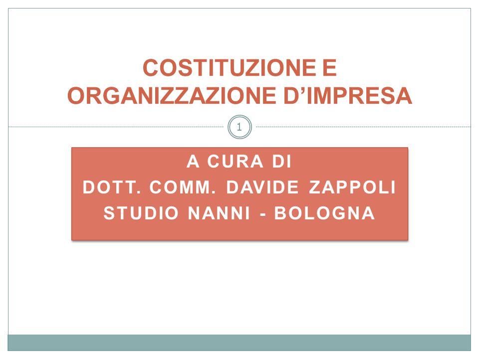 62 DOTT.COMM. DAVIDE ZAPPOLI STUDIO NANNI d.zappoli@studionanni.it Tel.