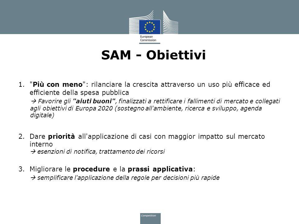 SAM - Obiettivi 1.
