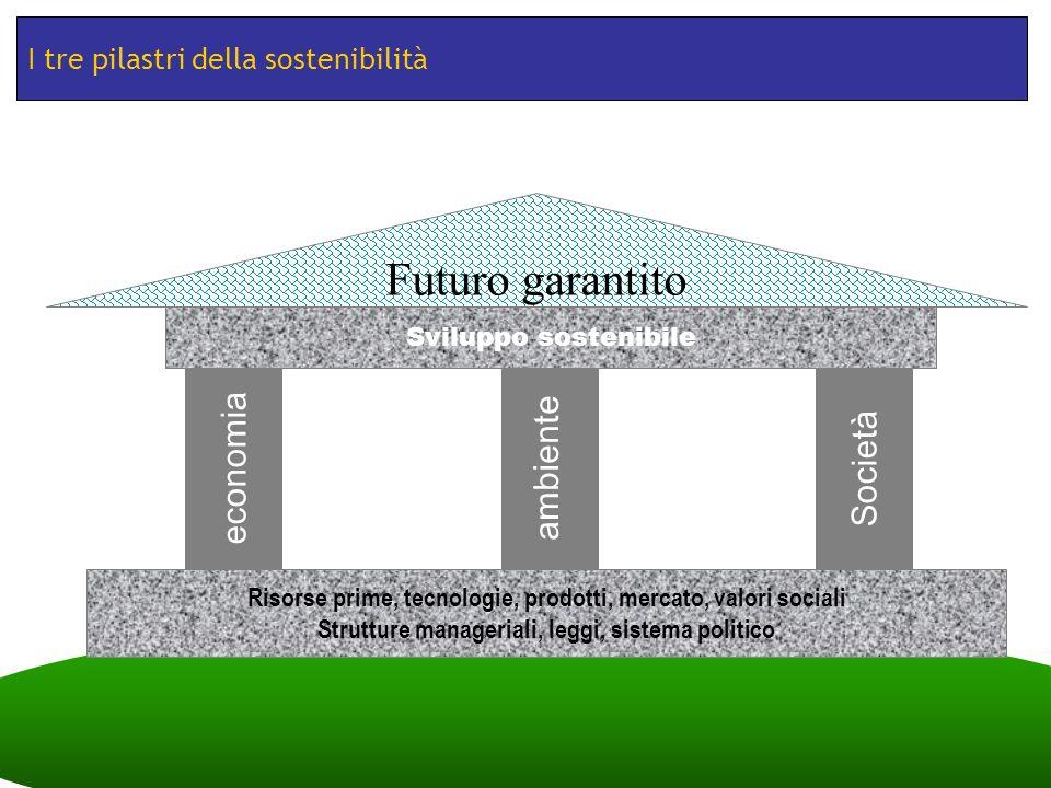 TESSSI: Teaching Sustainability across Slovenia and Italy Fabio Tomasi, Trieste, 30/11/2012 I tre pilastri della sostenibilità Risorse prime, tecnolog