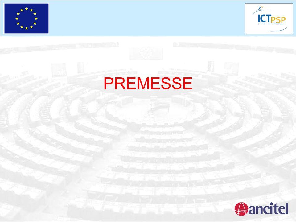 AGENDA DIGITALE EUROPEA LADL è perfettamente in linea con lAgenda Digitale Europea proposta dalla Commissione il 19.05.2010 Alcuni dei 7 obiettivi raccolgono le tematiche sottolineate dal processo ADL avviato dagli enti locali: -Mercato Digitale Unico -Interoperabilità e servizi open -Fiducia in Internet e sicurezza on line (privacy) -Banda Larga per tutti -Maggiori investimenti in ricerca applicata ICT e nel dispiegamento delle soluzioni -Migliorare lalfabetizzazione, le competenze e linclusione nel mondo digitale -Uso intelligente dellICT per risolvere problemi nodali