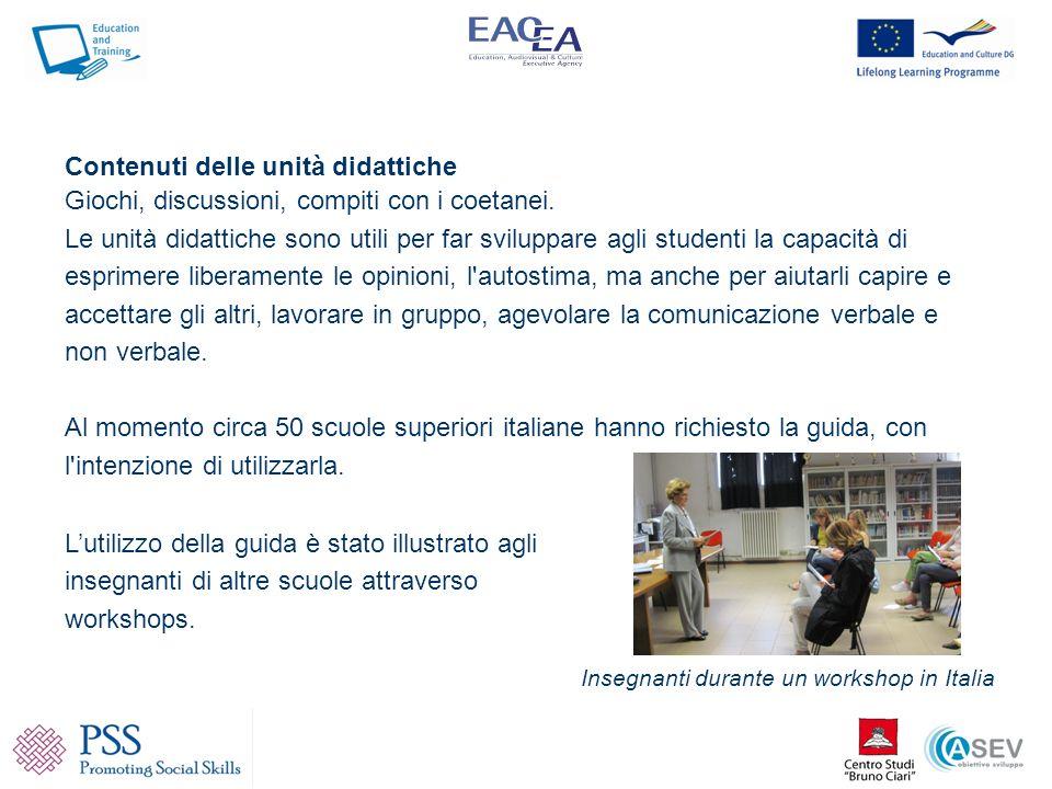 www.pss-comenius.eu Contiene le guide sulle abilità sociali nelle 5 lingue dei partners; inoltre contiene materiale sul progetto da poter scaricare.