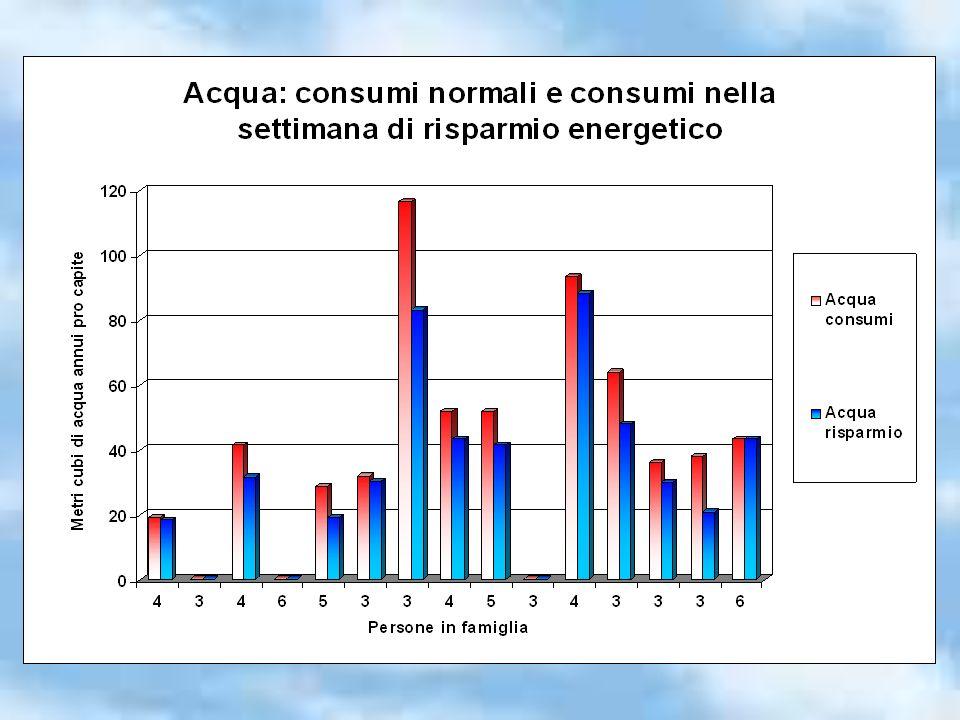 Differenze di consumi dovute a: tipologia degli alloggi localizzazione (lontana o vicina i luoghi di studio e lavoro), numero di persone in famiglia.