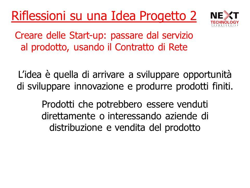 Lidea è quella di arrivare a sviluppare opportunità di sviluppare innovazione e produrre prodotti finiti. Prodotti che potrebbero essere venduti diret
