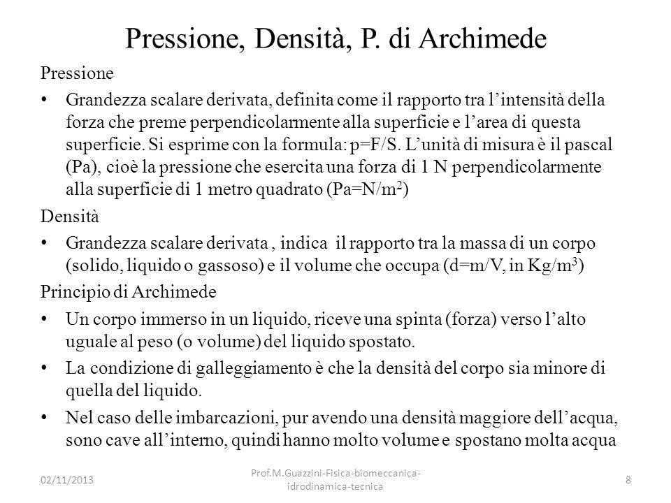 02/11/2013 Prof.M.Guazzini-Fisica-biomeccanica- idrodinamica-tecnica 59 La portanza
