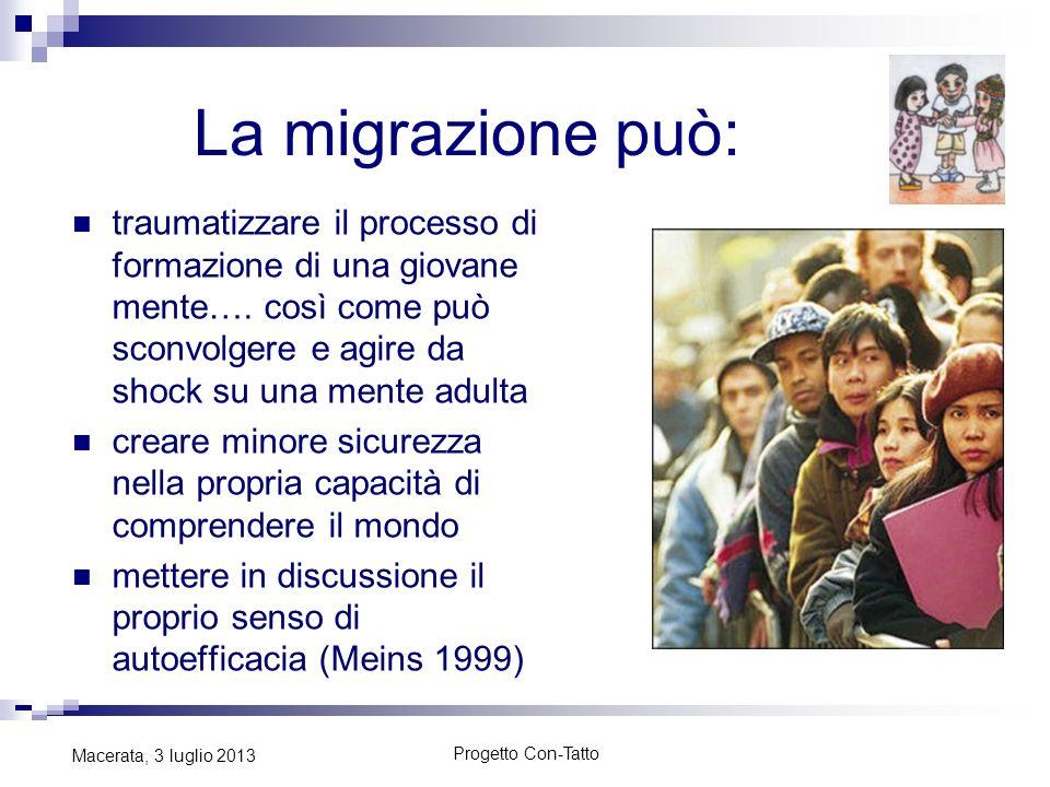 La migrazione può: traumatizzare il processo di formazione di una giovane mente…. così come può sconvolgere e agire da shock su una mente adulta crear